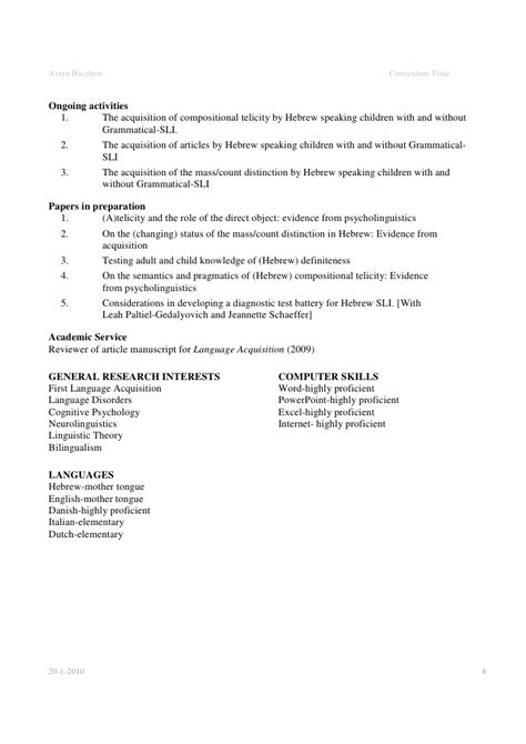 cv layout template ireland academic cv exle