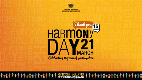 harmony day celebrating  years  march
