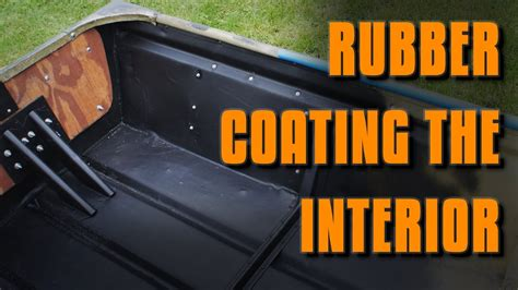 boat paint for plastic jon boat mods rubber coating the interior youtube
