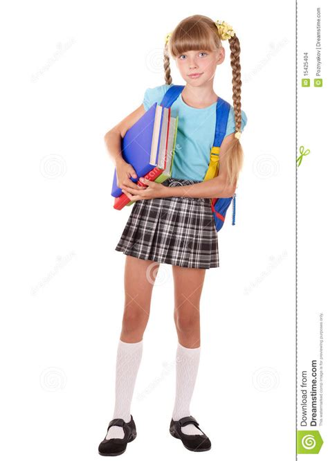 dreamstime high school girls schoolgirl with backpack holding books stock images