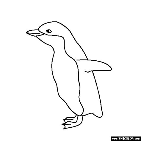coloring pictures of baby penguins free online coloring pages thecolor
