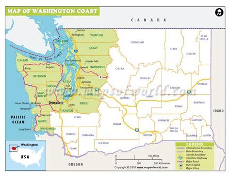 washington coast map buy washington coast map