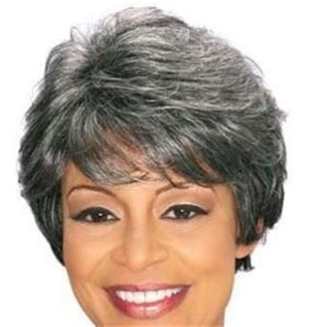 gray hair pieces for african american women 8 inch perfect short curly gray african american wigs for