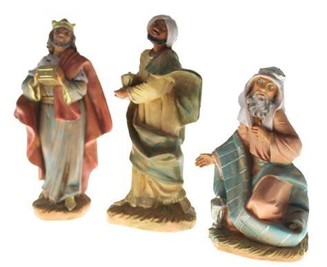5 fontanini magi presepe cm 9 5 fontanini re magi colore tipo legno 10 semprini arredi sacri