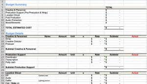 crop budget template how to approach a budget marketing for small