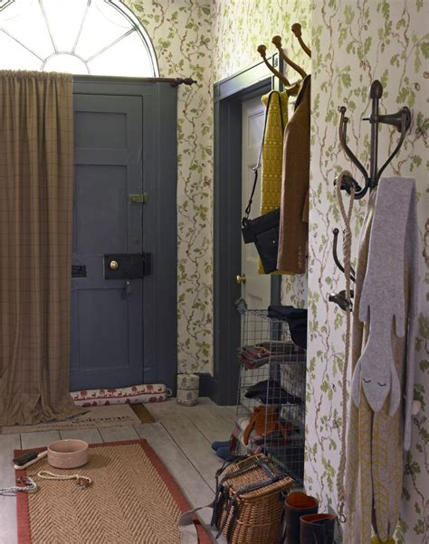 gap interiors classic hallway with wallpaper above dado maximise your small hallway with these simple decorating