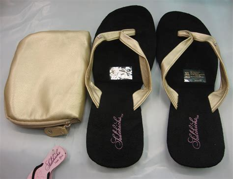 foldable slippers in a bag sidekick foldable flip flops sandals in pink grey or gold