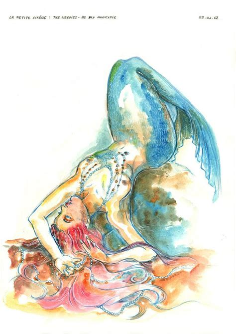 watercolor mermaid tattoo tattooos pinterest