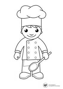 cooking class colouring pages