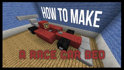 minecraft race car how to a race car bed in minecraft that works