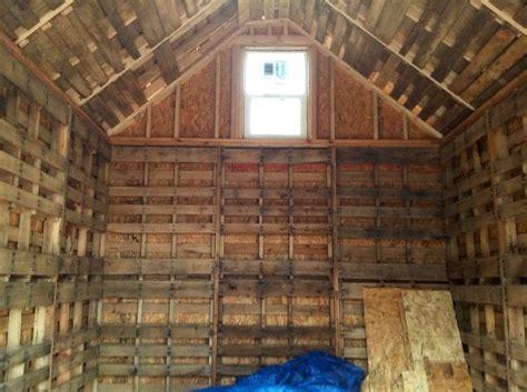 inside of pallet shed pallets diy