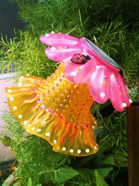 garden decor glass plate flower for your winter or