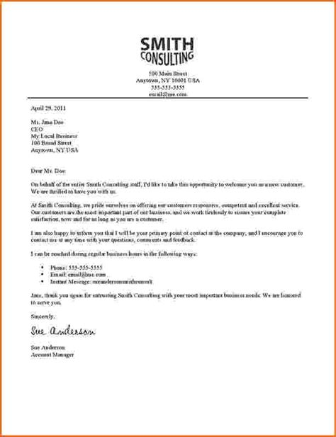New Customer Business Letter Sle Business Letters To Customers Best Letter Exles