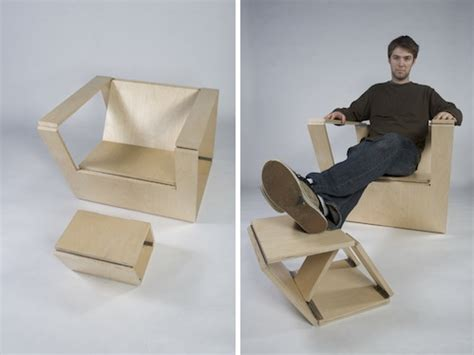 Folding Armchair Design Ideas Folding Chair And Ottoman By Brainstream Design Milk