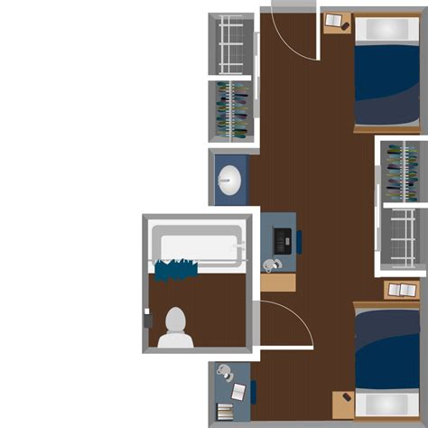 2 Person Desks Honors Hall Housing West Virginia University