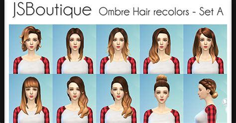 sims 4 ombre hair my sims 4 blog ombre hair recolors by jsboutique