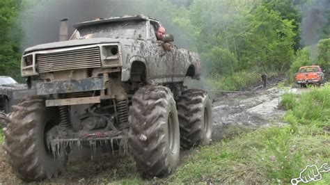 mudding truck mega trucks go powerline mudding busted knuckle