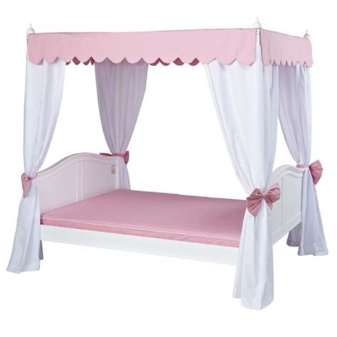 poster bed canopy curtains goldilocks poster bed with pink scallop canopy and curtains