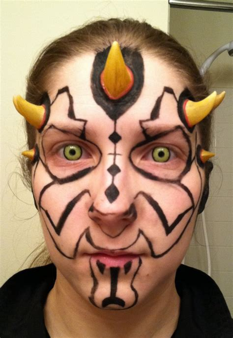 darth maul paint template darth maul makeup outline by danahopkins on deviantart