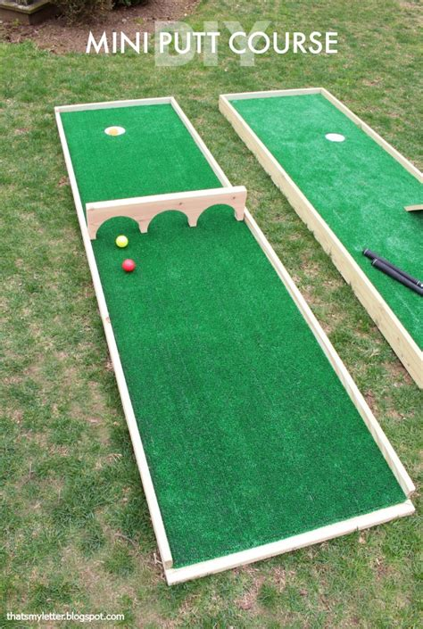 backyard golf games that s my letter diy mini putt course ryobi tool giveaway