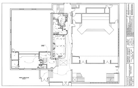 Floor Plan Drawing by Rod Crocker 187 Institutional