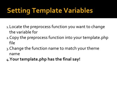 drupal theme variables drupal7 themeing changes and inheritence