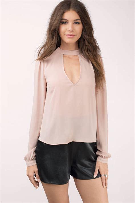 Choker Lace Blouse Lipsy blouse pink blouse choker blouse top 9