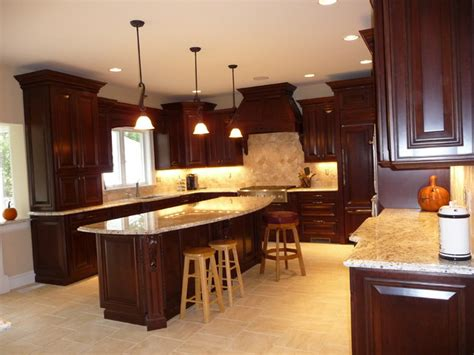 kitchen remodel dark cabinets dark cherry kitchen remodel before after traditional kitchen boston by s d m custom