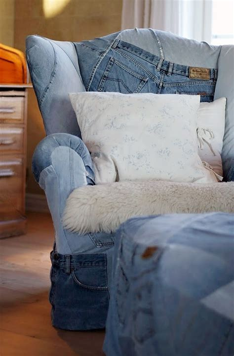 blue jean couch covers repurposed denim take a seat pinterest