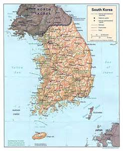 map of south cities maps of south korea detailed map of south korea in