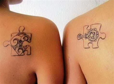 bestfriend matching tattoos best friend tattoos puzzle pieces popular design