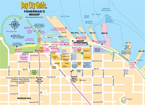san francisco map of fishermans wharf san francisco fishermans wharf map