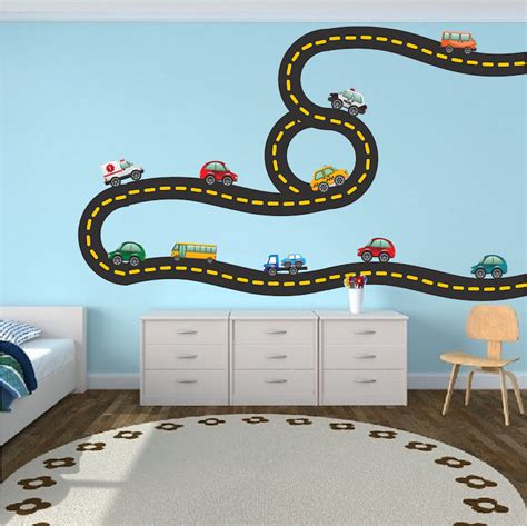 race track wall stickers race car decal sports wall decal murals race track