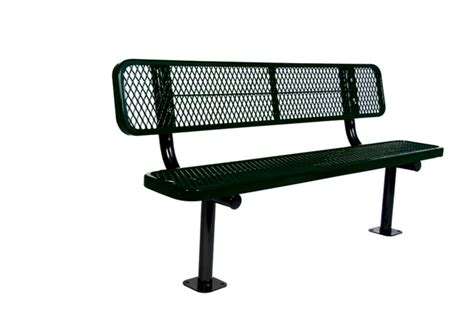 bench w ultrasite 6 ft commercial bench w back surface mount