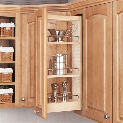 kitchen cabinet pull out organizers rev a shelf 26 25 in h x 5 in w x 10 75 in d pull out