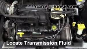 transmission fluid level check dodge caravan 2001 2004
