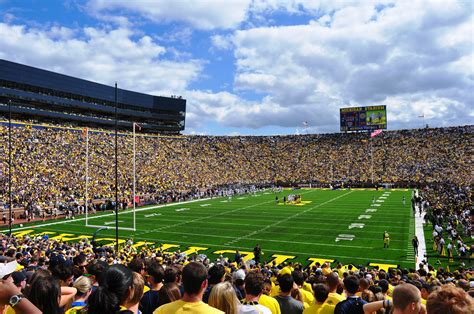 Big House Student Section by The Most Amazing College Stadium In Every State Sports