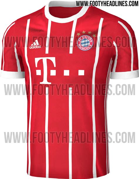 Jersey Bayern Munchen Home Official 17 18 Grade Ori exclusive bayern munich 17 18 home kit leaked footy headlines