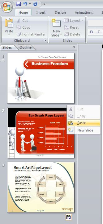 copy design template powerpoint copy slides from