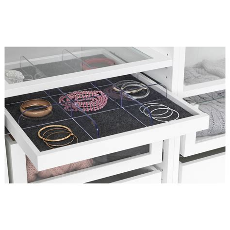 Ikea Pax Schublade by Komplement Pull Out Tray With Divider White Transparent