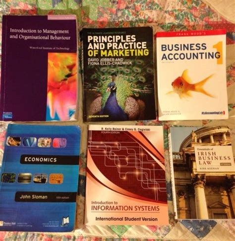 college books economics accounting marketing business law