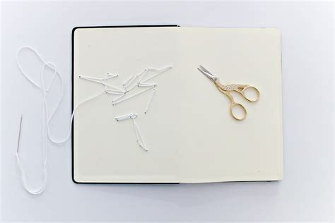 origami embroidered book cover craftbnb