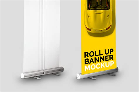 Jual Roll Up Banner by Roll Up Banner Mockup Mockupslib