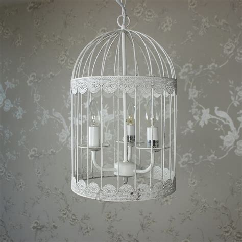 white metal chandelier birdcage ceiling light fitting