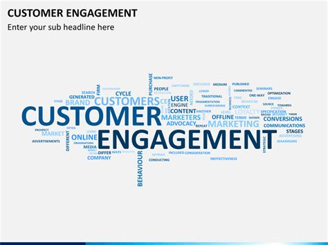 customer engagement plan template customer engagement powerpoint template sketchbubble