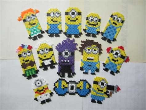 minion perler bead assorted minions despicable me perler by angela