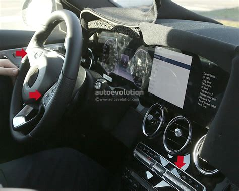 Mercedes A Class Interior by Spied 2018 Mercedes C Class Facelift Interior Spyshots