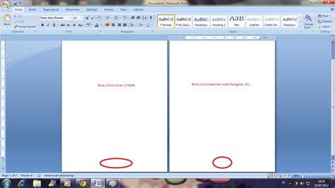 cara membuat nomor halaman tanpa cover membuat halaman cover halaman pertama i psycho