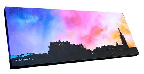 spray painting edinburgh 3d canvas view original painting of edinburgh the