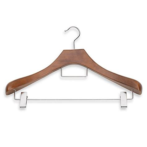 hangers bed bath and beyond buy real suit hanger with metal clips from bed bath beyond